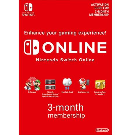Nintendo Switch ONLINE 3mēn. abonements