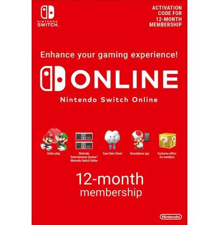 Nintendo Switch ONLINE 12mēn. abonements