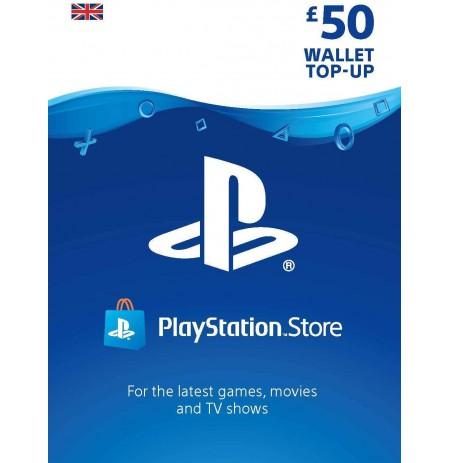 Playstation Network Card 50 GBP (Lielbritānija)