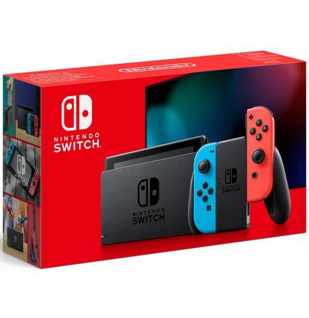 Nintendo Switch konsole (ar Neon Red un Neon Blue Joy- Con) v1.1(V2)