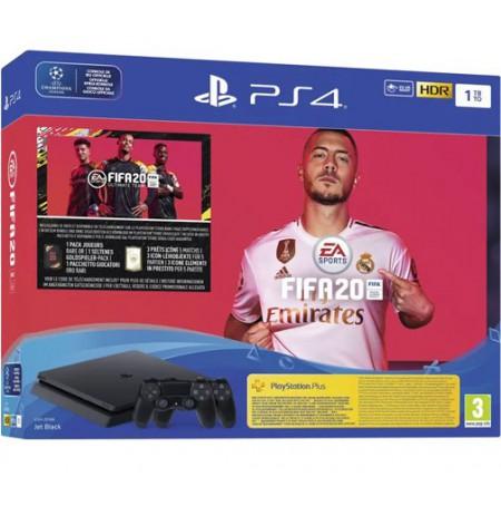 Spēļu konsole SONY PlayStation 4 (PS4) Slim 1TB (melna) - FIFA 20 Dualshock bundle