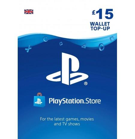 Playstation Network Card 15 GBP (Lielbritānija)
