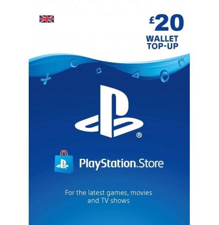 Playstation Network Card 20 GBP (Lielbritānija)
