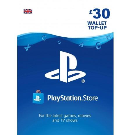 Playstation Network Card 30 GBP (Lielbritānija)