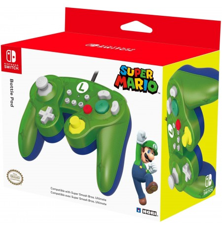 HORI Nintendo Switch Battle Pad (Luigi) GameCube Style