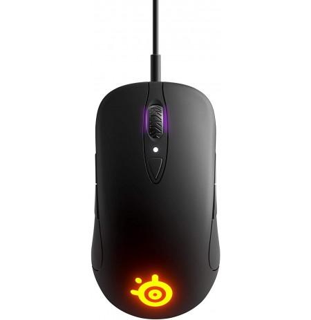 SteelSeries SENSEI TEN melna spēļu optiskā pele ar vadu | 18000 DPI