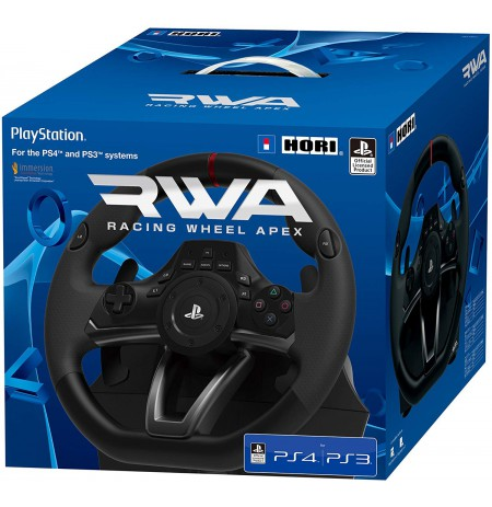 HORI RWA Racing Wheel Apex stūre Licensed by Sony   PS3/PS4/PC