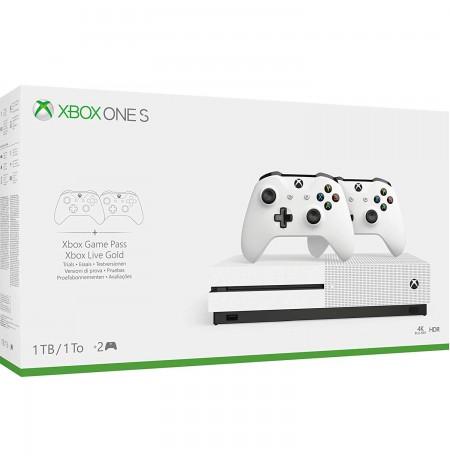 SPĒĻU KONSOLE Xbox One S 1TB balta ar papildu kontrolieri