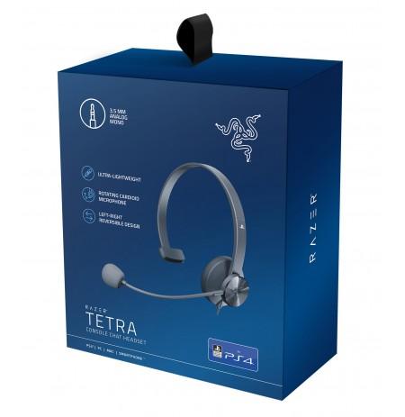 RAZER Tetra melnas austiņas ar vadu ar mikrofonu   3.5mm