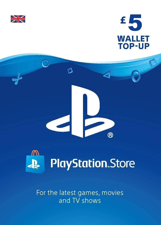 Playstation Network Card 5 GBP (Lielbritānija)