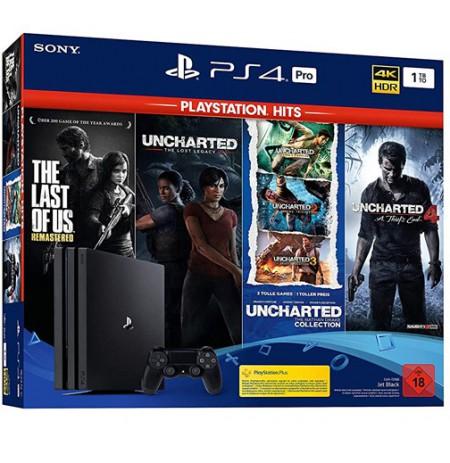 Spēļu konsole SONY PlayStation 4 (PS4) PRO 1TB (melna) +