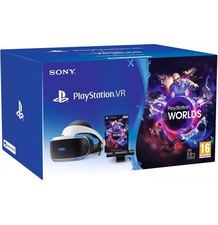 Virtuālās realitātes brilles Sony PlayStation VR ar PS4 kameru un spēli VR Worlds