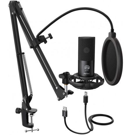 FIFINE T669 mikrofons ar vadu un statīvu | USB