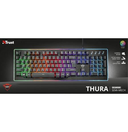 TRUST GXT 860 Thura meha-membrānas klaviatūra | ASV