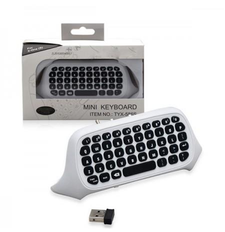 Balta bezvadu klaviatūra Xbox One kontrolierim