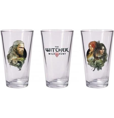The Witcher 3: Wild Hunt - Geralt & Triss with Yeneffer pintes glāzes