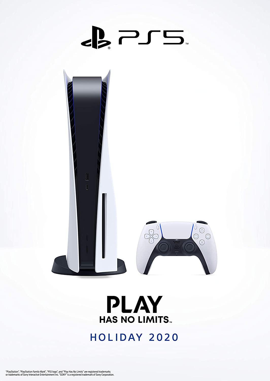 PlayStation 5 spēļu konsole 825GB (PS5 Disc version)