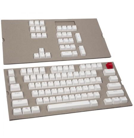 Glorious PC Gaming Race Keycaps - (104 gab., balti, ANSI, ASV izkārtojums)