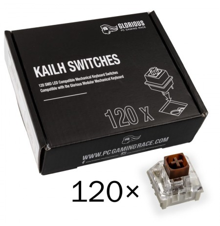 Glorious PC Gaming Race Kailh Box Brown pogas | Tactile & Silent (120 gab.)