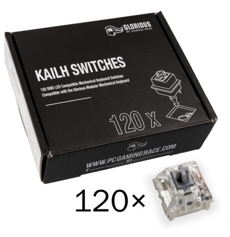 Glorious PC Gaming Race Kailh Speed Silver pogas | Linear Silent (120 gab.)