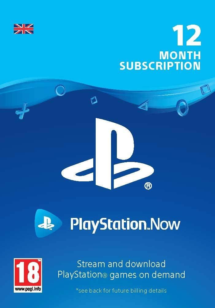 PlayStation Now - 12 mēnešu abonements (Lielbritānija)
