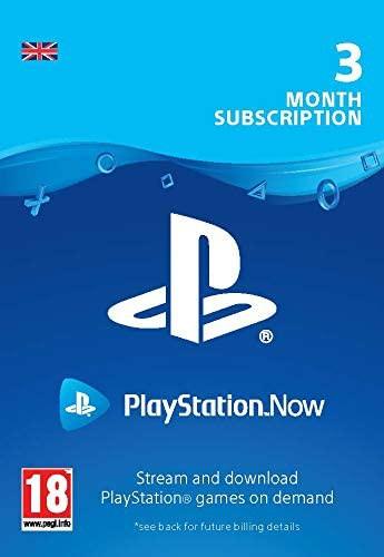 PlayStation Now - 3 mēnešu abonements (Lielbritānija)