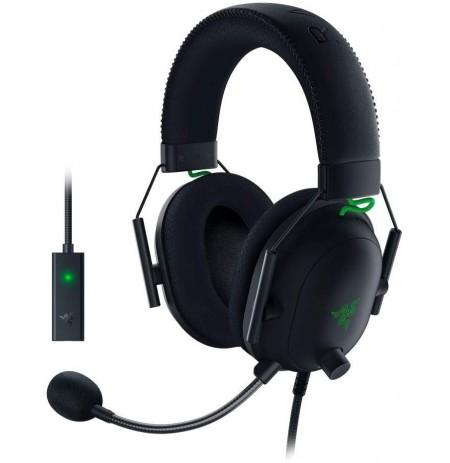 RAZER BlackShark V2 melnas austiņas ar vadu ar mikrofonu