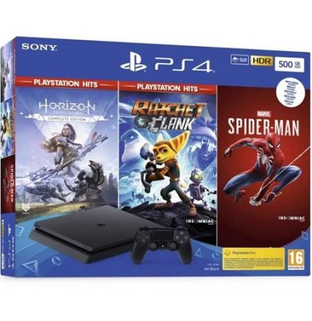Spēļu konsole SONY PlayStation 4 (PS4) Slim 500GB (melna)