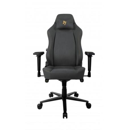 Arozzi PRIMO WOVEN FABRIC melnas/zelta krāsas ergonomisks krēsls