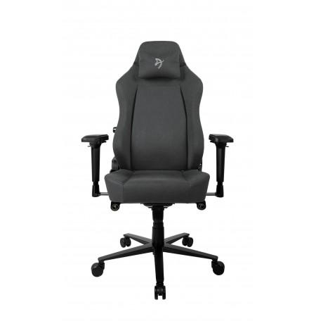 Arozzi PRIMO WOVEN FABRIC melnas/pelēkas krāsas ergonomisks
