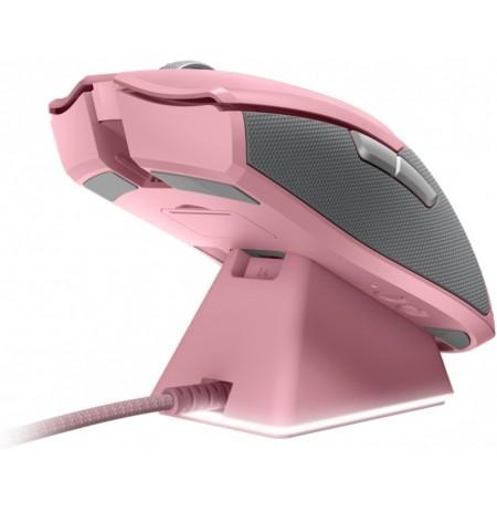 RAZER Viper ULTIMATE Quartz rozā bezvadu spēļu optiskā pele + DOCK | 20000 DPI