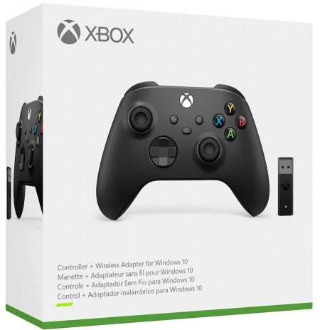 Xbox Series bezvada kontrolieris ar adapteri (Carbon Black)