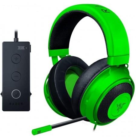 RAZER KRAKEN Tournament Edition zaļas austiņas ar vadu ar mikrofonu | USB / 3.5 mm