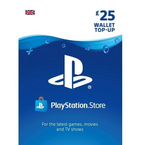 Playstation Network Card 25 GBP (Lielbritānija)