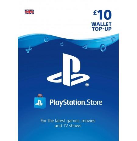 Playstation Network Card 10 GBP (Lielbritānija)