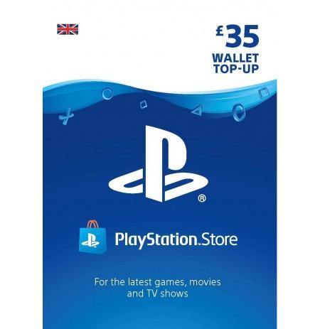Playstation Network Card 35 GBP (Lielbritānija)