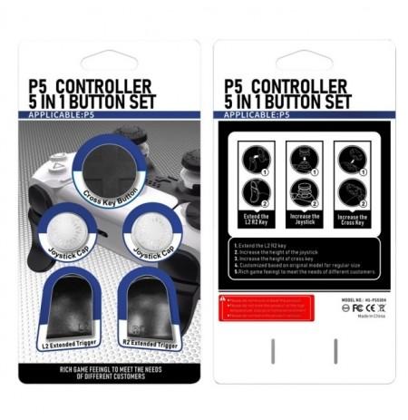 PlayStation 5 kontroliera pogu komplekts (Balts)