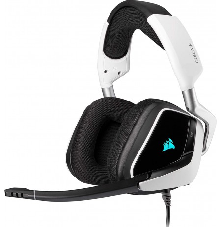 Corsair VOID RGB Elite Vadu austiņas ar mikrofonu (baltas)