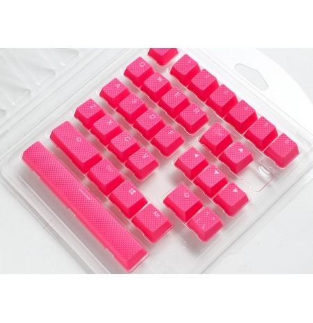 Ducky Rubber Keycap Set   31, Cosmic Pink
