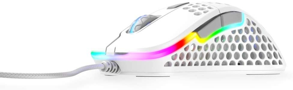 Xtrfy M4 Balta optiskā vadu pele   16000 CPI