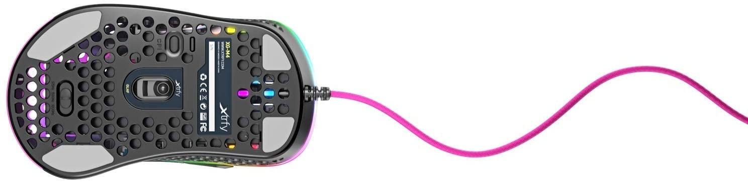 Xtrfy M4 Rozā optiskā vadu pele | 16000 CPI