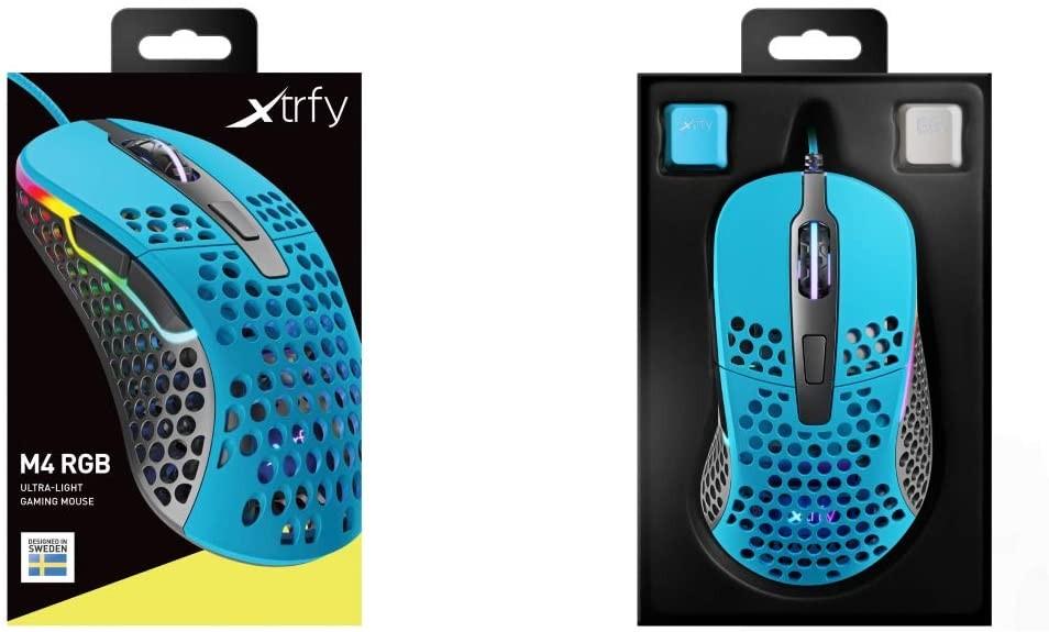 Xtrfy M4 Miami Blue optiskā vadu pele   16000 CPI