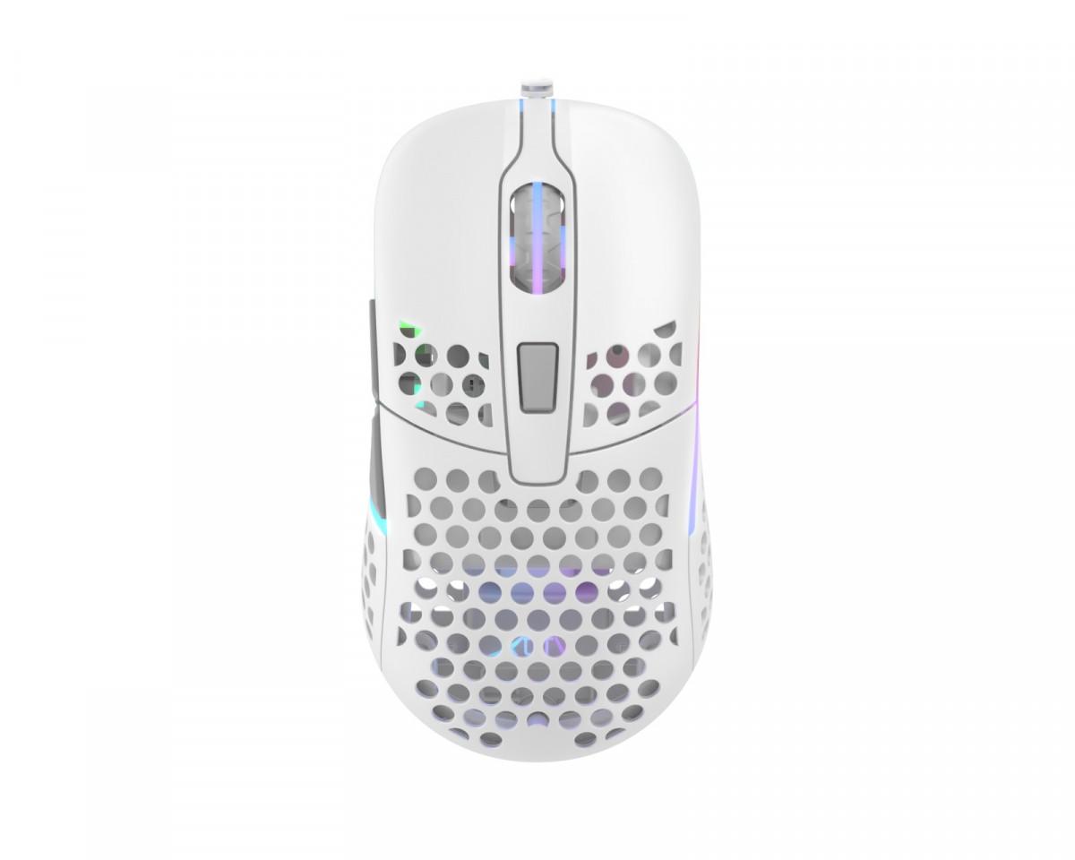 Xtrfy M42 Balta optiskā vadu pele   16000 CPI