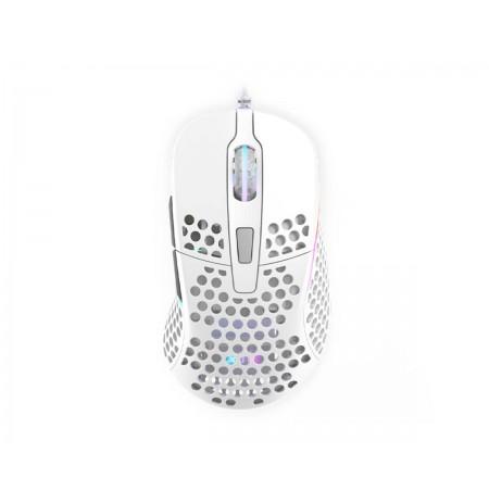 Xtrfy M4 Balta optiskā vadu pele | 16000 CPI