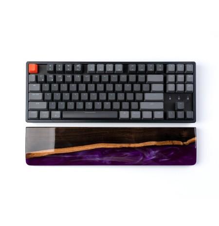Keychron tastatūra K8/C1 plaukstas locītavas balsts - brūna koka + resin | 358 x 80 x 15mm