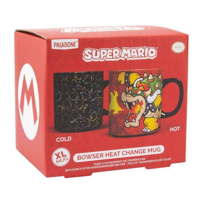 Nintendo Super Marios Bowser XL Kauss | Reaguojantis į Karštį 550ml