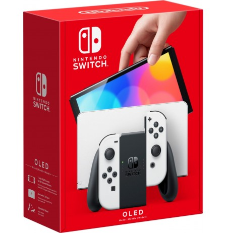 Nintendo Switch OLED console (with White Joy-Con)
