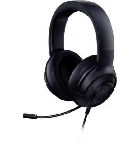 RAZER KRAKEN X 7.1 melnas austiņas ar vadu ar mikrofonu | 3.5mm