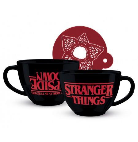 Stranger Things Кружка для капучино и трафарет (630ml)