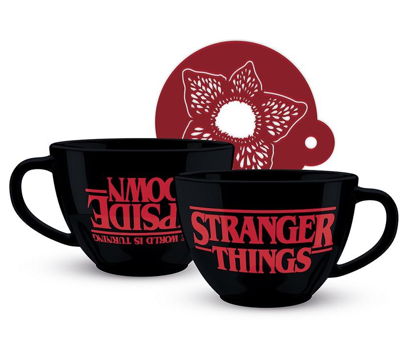 Stranger Things Kapučīno krūze un trafarets (630ml)